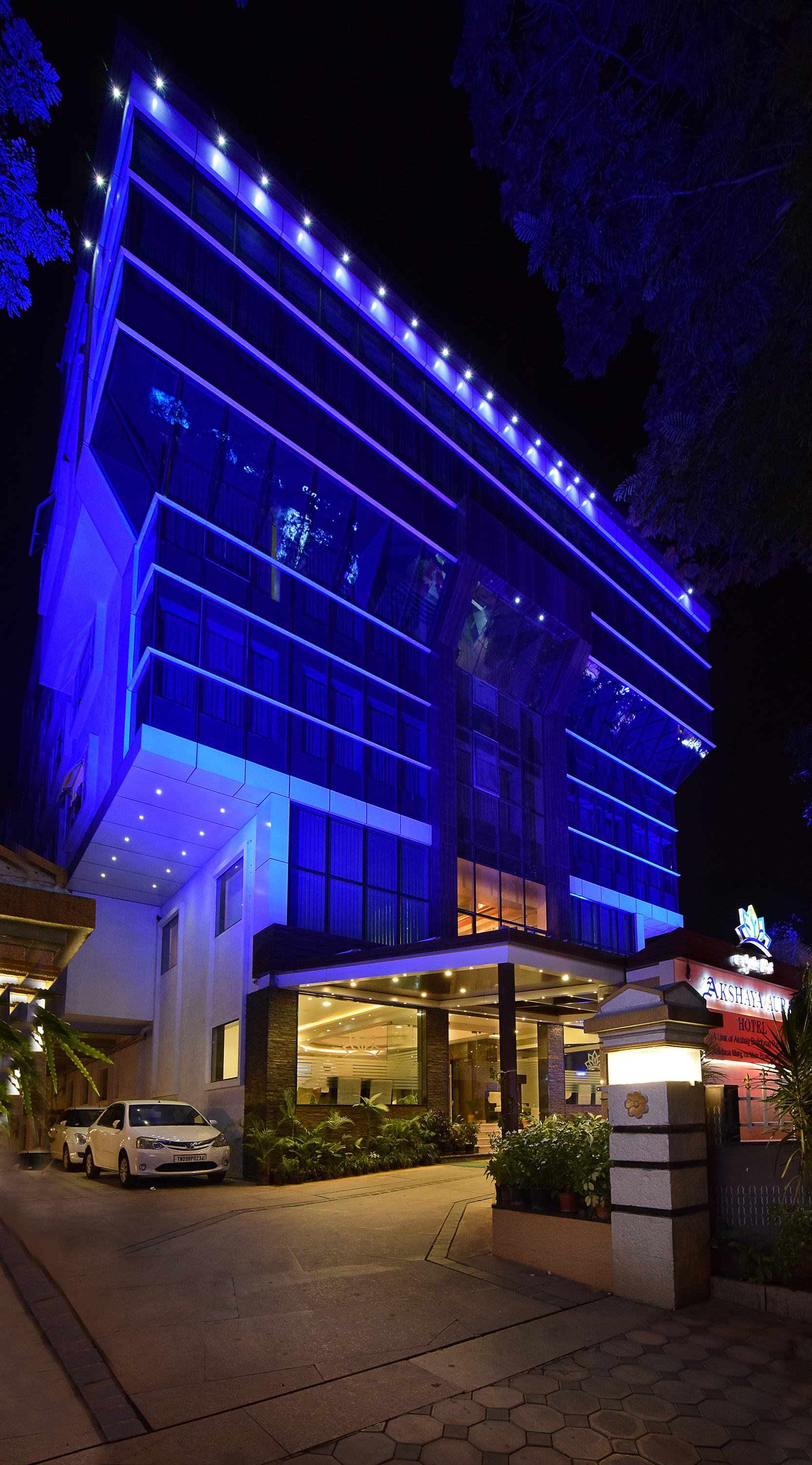 Large Photograph Of Akshaya Aura Hotel Bangalore Located In