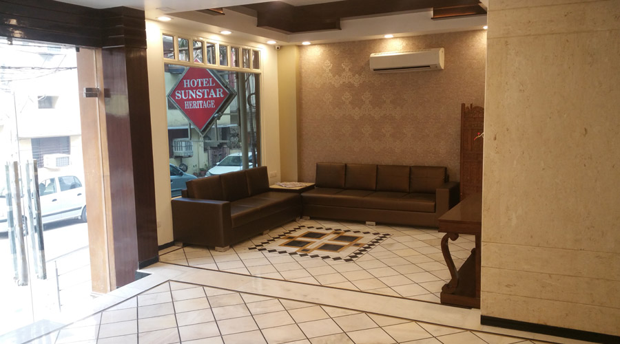 Lobby of HOTEL SUNSTAR HERITAGE Hotel New Delhi - Budget Hotels in New Delhi