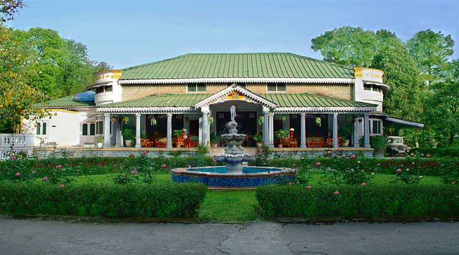Large Photograph Of Taragarh Palace Hotel Palampur Located In
