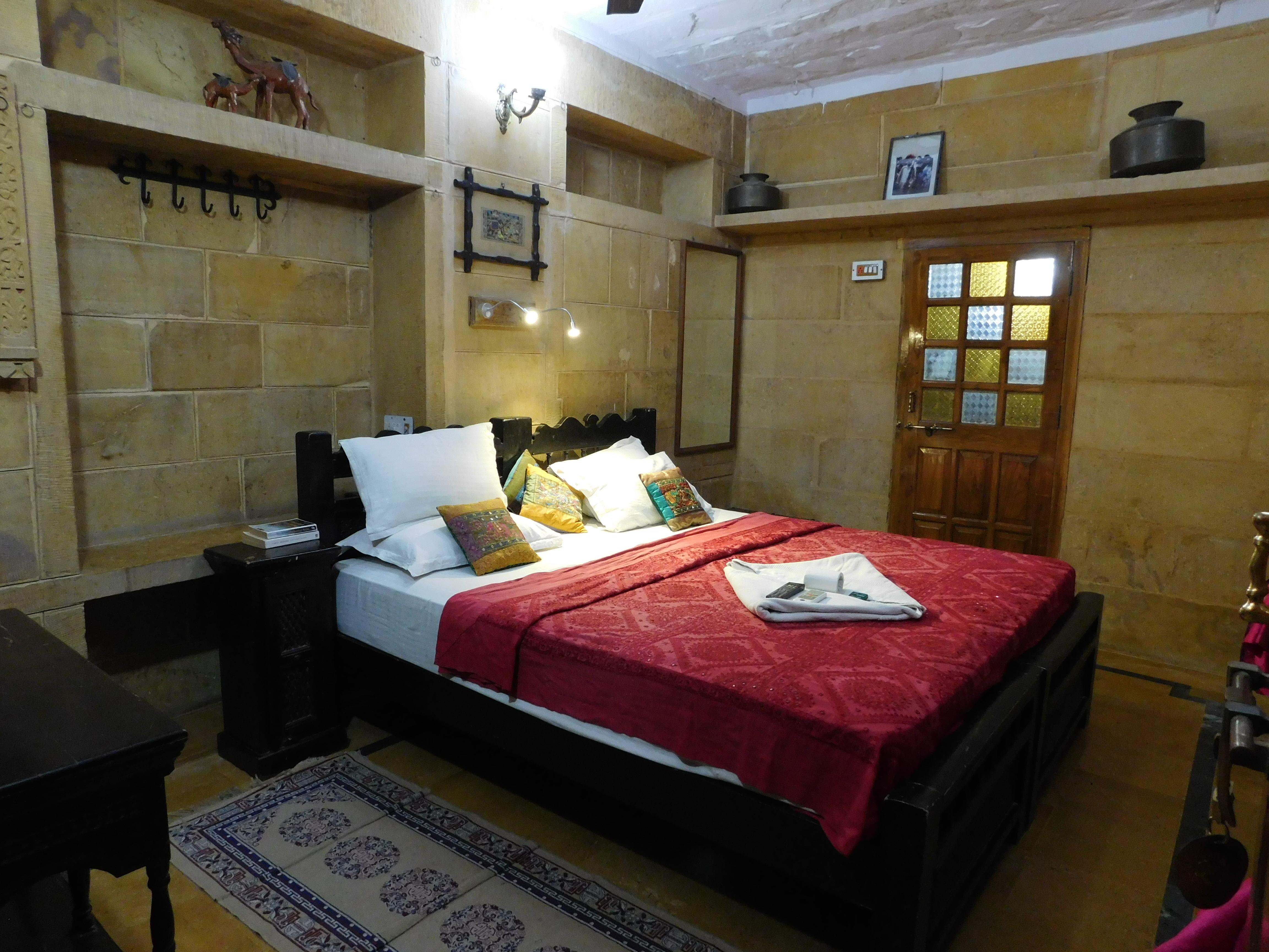 Deluxe  Room,                                     SHAHI PALACE HOTEL JAISALMER - Budget Hotels in Jaisalmer